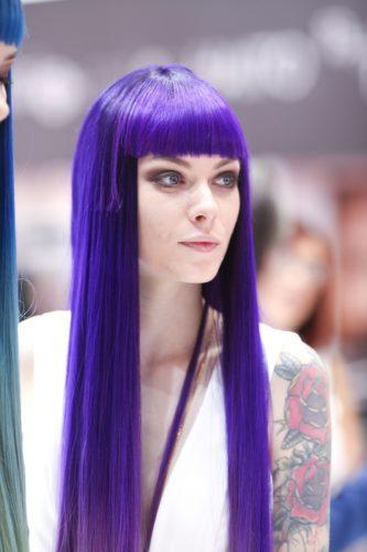 Salon International 2016 Londra capelli lunghi viola