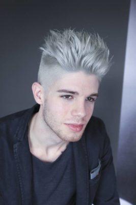 Taglio capelli uomo colore grigio
