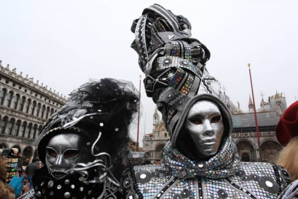 Maschere argento al Carnevale di Venezia