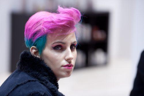 rose and blu hair