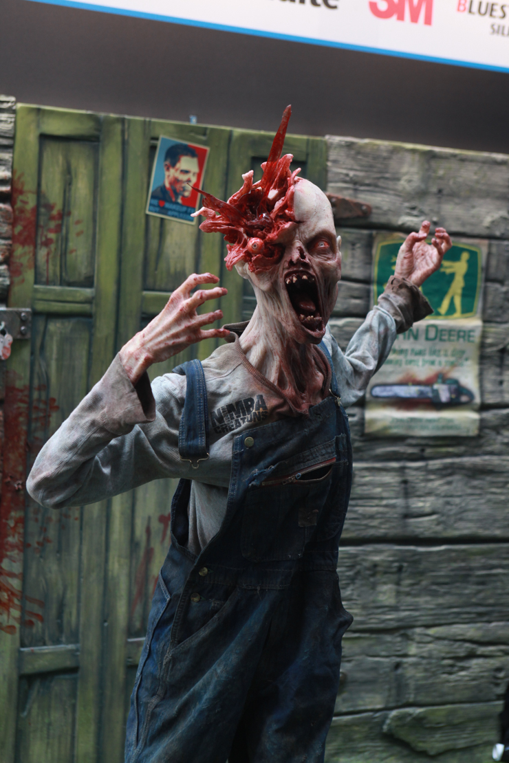 zombie alla fiera internazionale del trucco