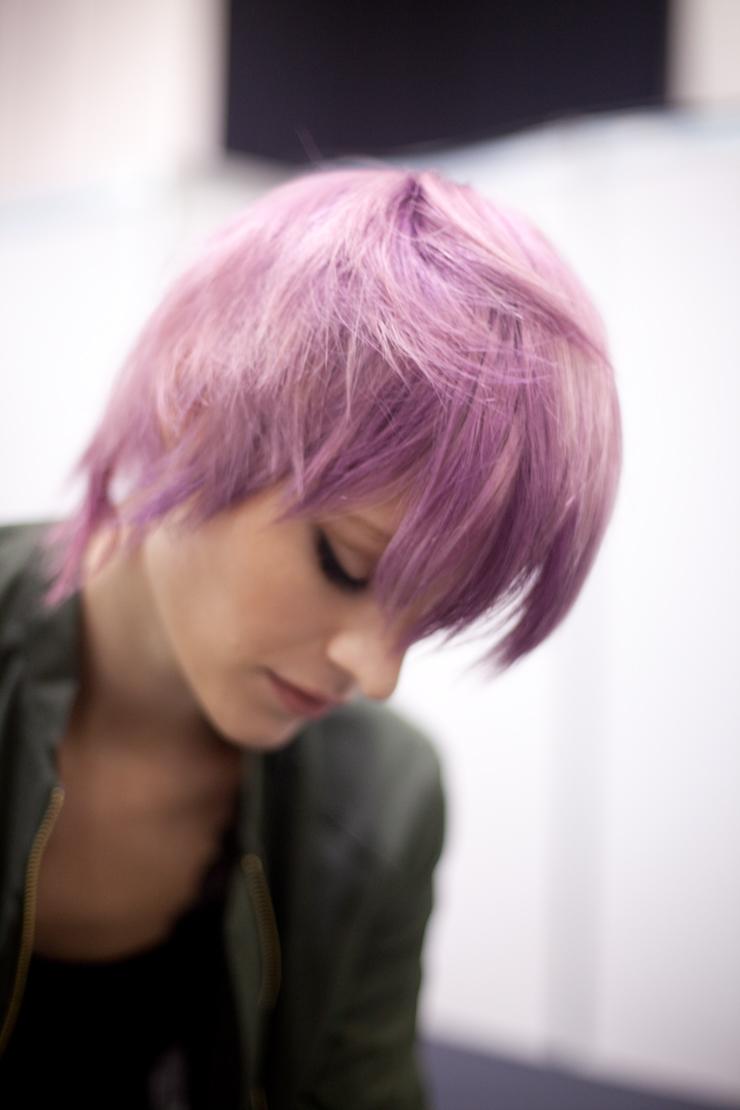 capelli rosa lisci