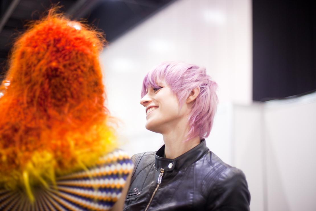 capelli rosa quarzo corti
